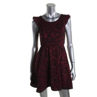 Emerald Sundae Womens Juniors Textured Pattern Party Dress