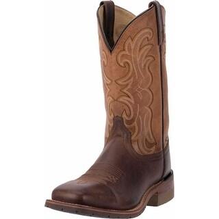 "Dan Post Work Boots Mens 11"" Top Heat-Resistant Dark Brown"