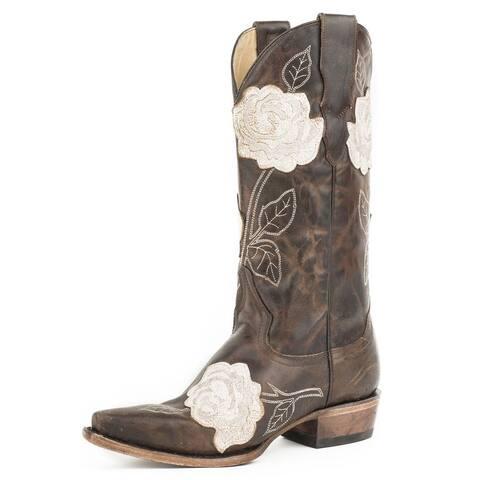 "Stetson Western Boots Womens Fiona 13"" Black"
