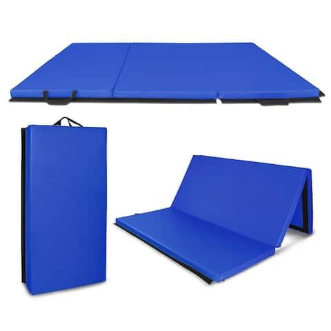 "6'x4'x2"" Gymnastics Mat, Tri-Fold Folding Tumbling Mat"