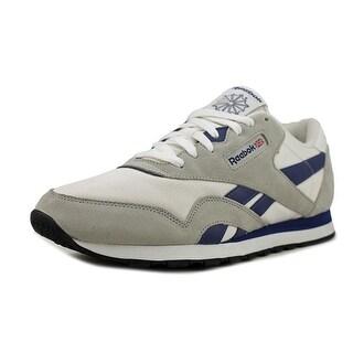 Reebok Classic Nylon Men  Round Toe Suede White Running Shoe