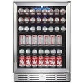 """Kalamera KRC-150BV 175 Can Beverage Cooler Refrigerator 24"""" Built-in Single Zone Touch Control with Stainless Steel Door - Thumbnail 2"""