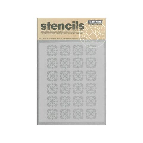 Sa044 hero arts stencil clearly kelly floral tile