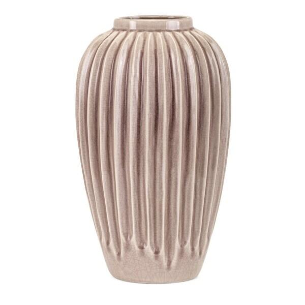 155 Brown Glossy Finish Hunt Large Vase Tabletop Decor Free