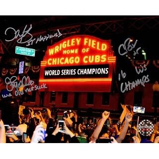 Chris Bosio John Mallee  Dave Martinez Triple Chicago Cubs 2016 World Series Wrigley Field Marque 8