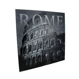 Black and White Glass Rome Colosseum Wall Hanging