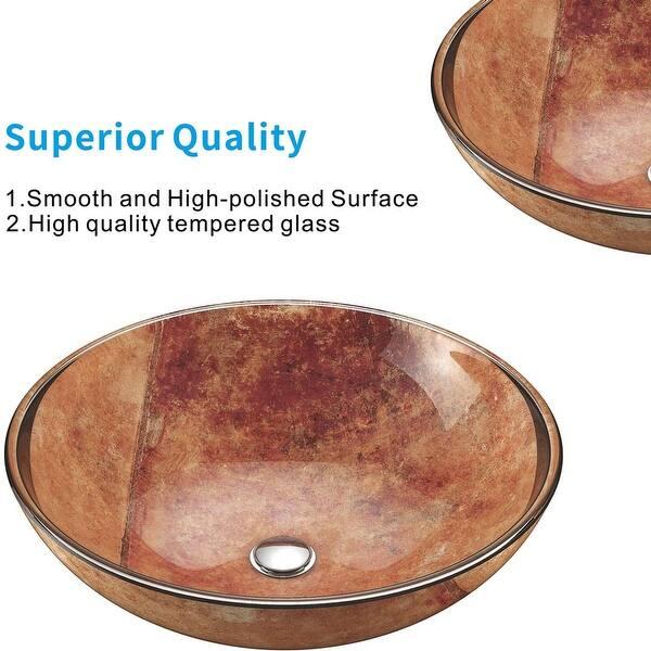 Copper Glass Handmade Circular Vessel Bathroom Sink On Sale Overstock 32599316