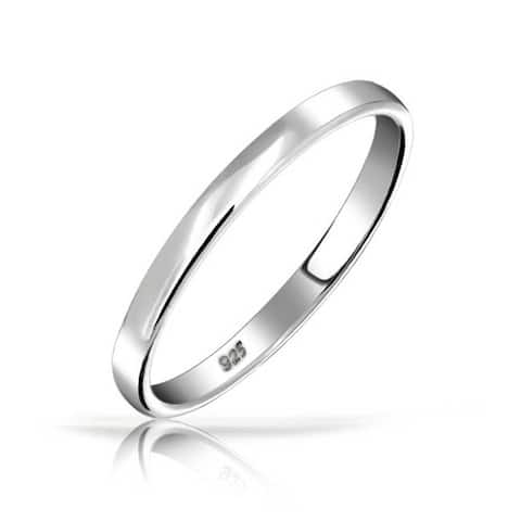 925 Sterling Silver Couples Wedding Band Ring or Thumb Toe Ring 3MM