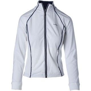 L-RL Lauren Active Womens Piping Zip Front Jacket - S