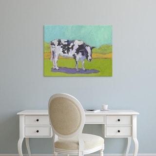 Easy Art Prints Carol Young's 'Pasture Cow I' Premium Canvas Art