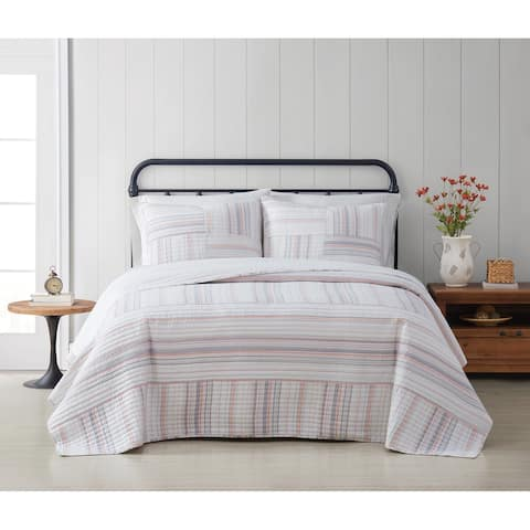 Cottage Classics Evelyn Cotton Yarn Dye 3 Piece Quilt Set