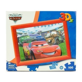 Disney Pixar Cars 100-Piece 3D Puzzle A Day in the Race - multi-color - 13.0 in. x 9.0 in.