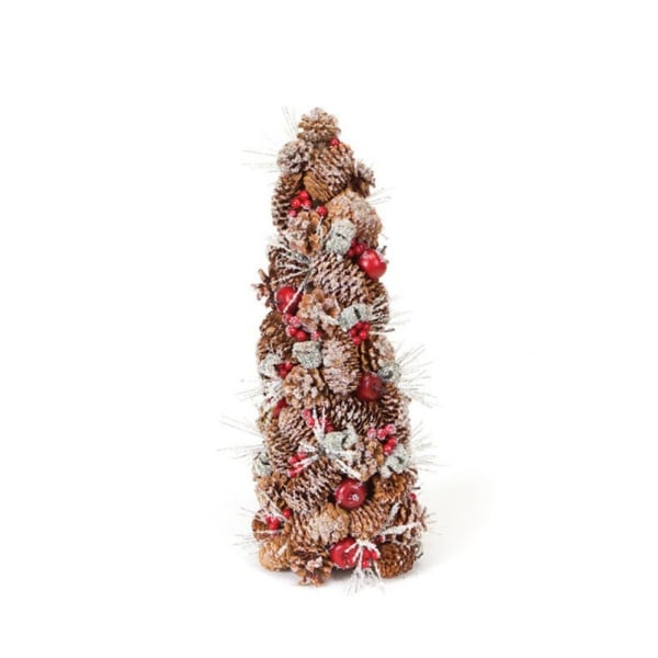 "20"" Eco Country Iced Pine Cone Artificial Apple Berry Christmas Tree - multi"