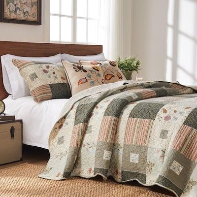 Greenland Home Fashions Sedona 100 Percent Cotton Quilt Set