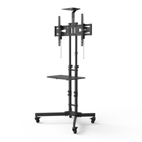 Loctek P3R Universal Mobile Curved TV Cart TV Stand for LED, LCD, Plasma 32-65 inches