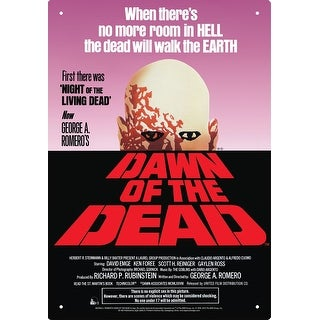 Dawn of The Dead One Sheet Tin Sign - Multi