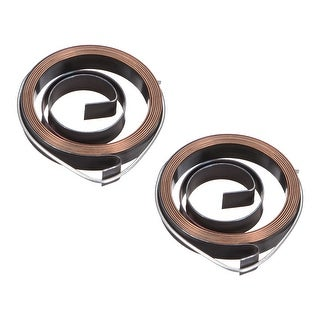 2PCS Drill Press Spring Quill Feed Return Coil Spring Assembly 680mm 35x6x0.5mm - 0.5 x 6 x 680mm