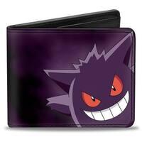 Gengar Pose1 Corner Black Purples Bi Fold Wallet - One Size Fits most