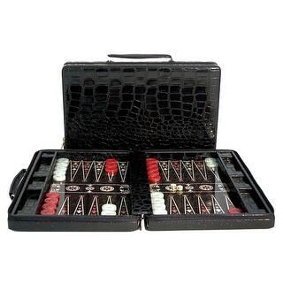 Black Vinyl Croc Backgammon Zipper Case|https://ak1.ostkcdn.com/images/products/is/images/direct/954121cf9e4260227b3bf1ff4229dc53be81a89d/Black-Vinyl-Croc-Backgammon-Zipper-Case.jpg?impolicy=medium