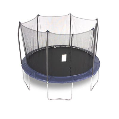 Skywalker Trampolines 13' Round Trampoline Combo with Navy Spring Pad