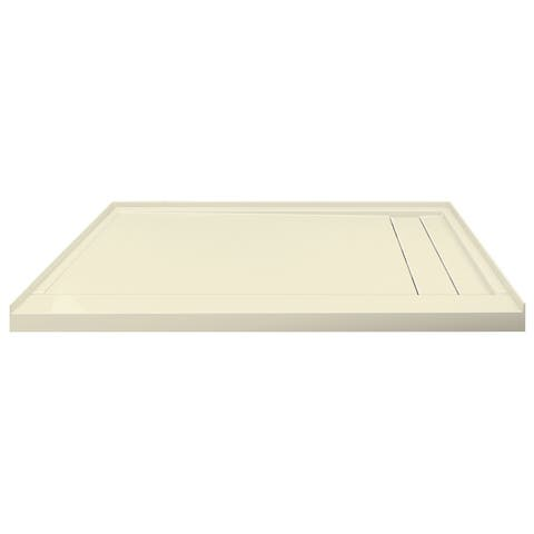 """Transolid Linear 60"""" x 30"""" Alcove Shower Base with Right Hand Drain - 60"""" x 30"""""""