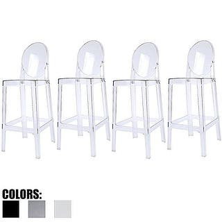 Blok Contemporary Adjustable Barstool Set Of 4 Free
