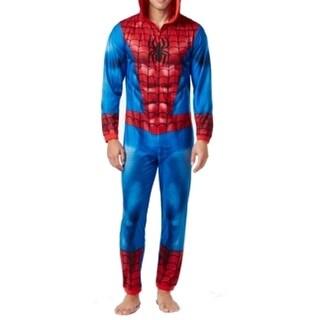 Marvel NEW Blue Red Mens Size Large L SpiderMan One Piece Sleepwear