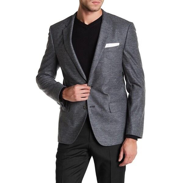 de3f8a110 Hugo Boss Men's Hadley 4 Trim Fit Wool Blend Flannel Sportcoat 40R