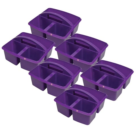 Small Utility Caddy, Purple, Pack of 6