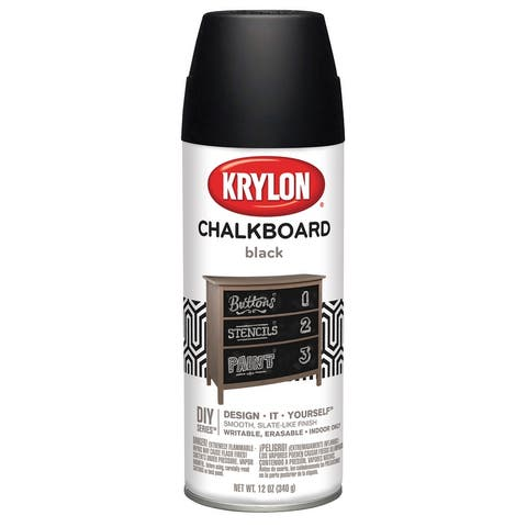 Krylon k0807 chalkboard spray paint black