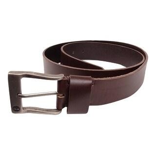 Timberland Men's Antiqued Buckle Leather Belt (Brown, 36)