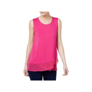 Vince Camuto Womens Pullover Top Jersey Sleeveless