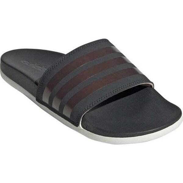 e4273ba10c41 Shop adidas Women s Adilette Comfort Slide Grey Six Copper Met Raw ...