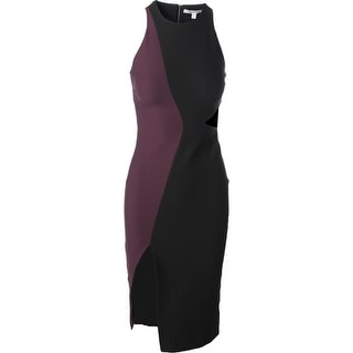 Elizabeth and James Womens Colorblock Cut-Out Cocktail Dress