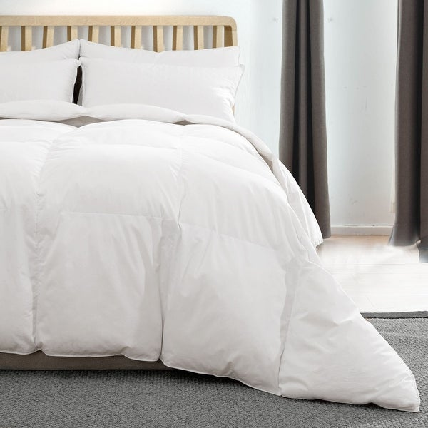 Lightweight Summer Goose Down Comforter Duvet with Cotton Cover. Opens flyout.