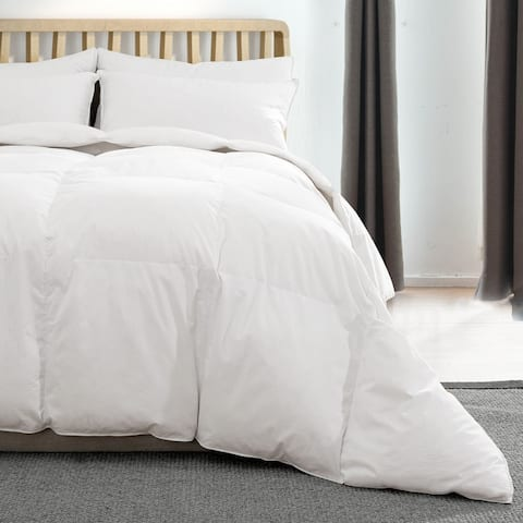 Lightweight Summer Goose Down Comforter Duvet with Cotton Cover
