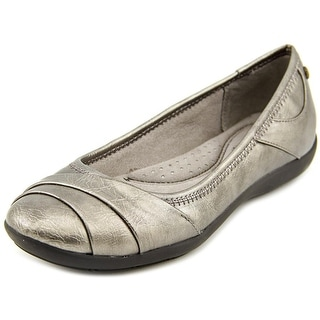 Life Stride Liza Too Women Round Toe Synthetic Gray Ballet Flats