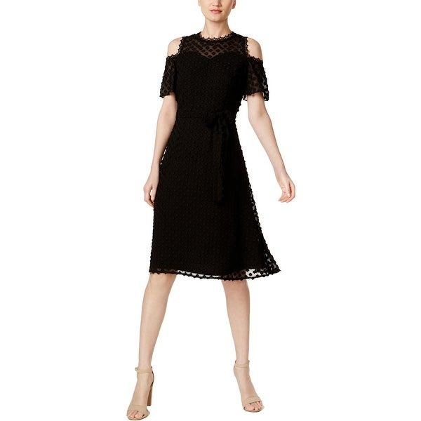 Shop Ivanka Trump Womens Cocktail Dress Fit Amp Flare Cold