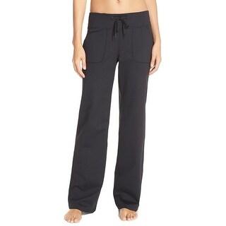 Zella NEW Deep Black Womens Size 8 Drawstring Wide-Leg Yoga Pants