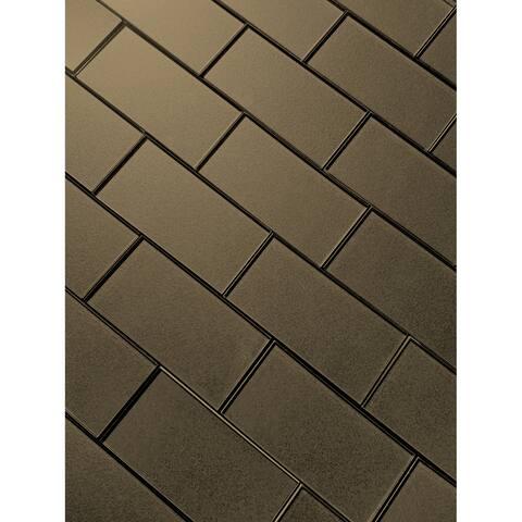 """Miseno MT-WHSFOG0306-BR Forever - 3"""" x 6"""" Rectangle Wall Tile - Sem - Bronze"""