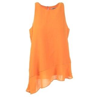 DKNYC Womens Textured Sleeveless Blouse