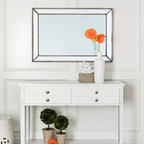 Abbyson Cosmo Bronze Rustic Rectangular Wall Mirror