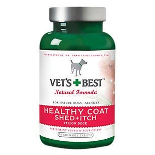 Vet's Best Healthy Coat Shed and Itch 50 Tablets