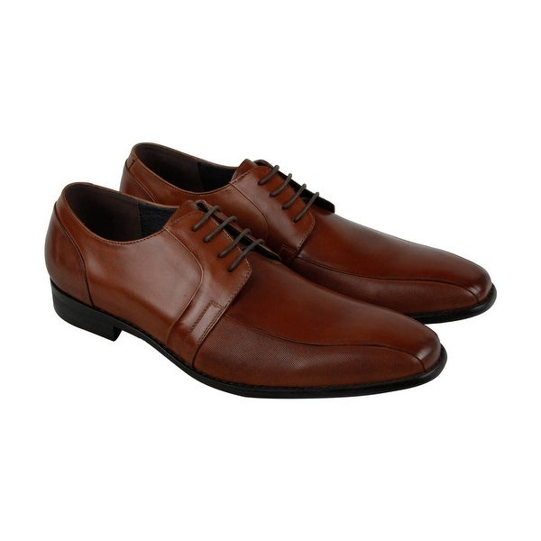 Kenneth Cole New York Charm Er Mens Brown Leather Casual Dress Oxfords Shoes