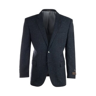 Novello Navy Blue Modern Fit, Pure Hopsack Wool Jacket by Tiglio Luxe FJ8031/1