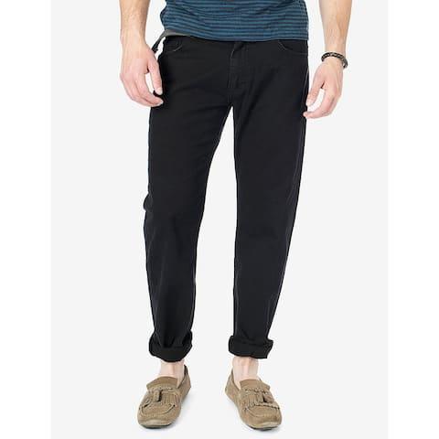 Unionbay Mens Pants Black Size 34x30 Survivor Cargo Button-Front