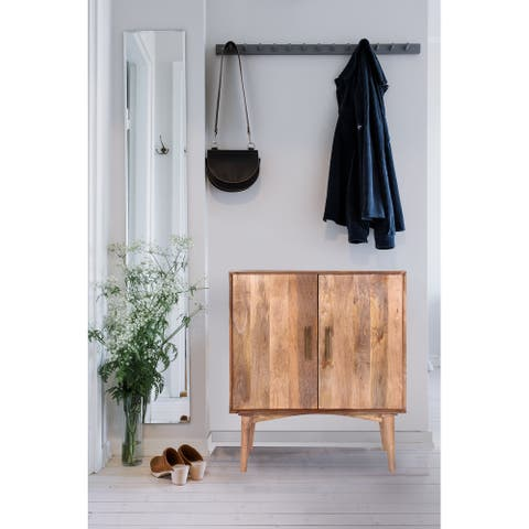 Halton 32-inch Handmade Midcentury Mango Wood Sideboard