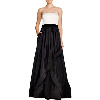 Adrianna Papell Womens Evening Dress Colorblock Empire