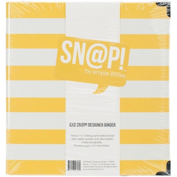 """Sn@p! Designer Binder 6""""X8""""-Yellow Stripe"""