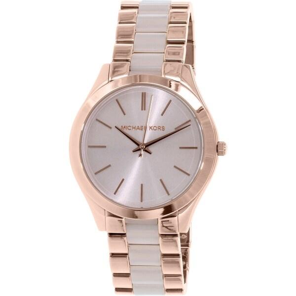 bd9a11db0e60 Shop Michael Kors Women s Slim Runway Fashion Watch - Free Shipping ...
